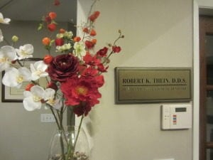 Interior photo of Dr. Robert Thein's office